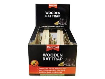 Wooden Rat Trap (Bulk Pack 6)